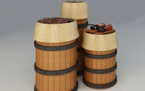 烟酒咖啡区道具-咖啡展示桶