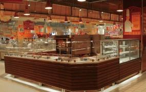烘焙区域道具-烘焙面包中岛展柜