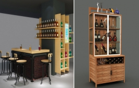 烟酒咖啡区道具-精品柜