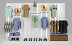 服饰区域道具-男休背柜