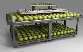 生鲜区域道具-果蔬中岛架