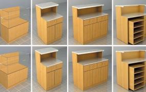 客服区域道具-服务台组合柜