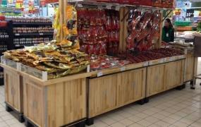 干杂货区域道具-腌腊木质架